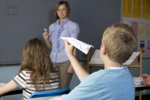 ADHD - Paper airplanes.  Not the class topic!
